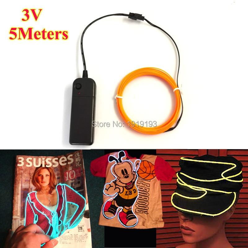1.3mm (5Metre) EL žičana cijev cijevi LED Neonska svjetiljka s - Rasvjeta za odmor - Foto 2