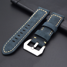 New quality Leather watch strap 22mm 24mm for Panerai Retro Watch Strap Band Stainless steel buckle for Omega Tissot Seiko Casio