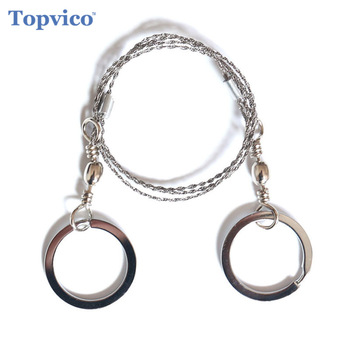 Topvico Portable Stainless Steel Wire Saw Outdoor Survival Self Defense Personal Camping Hunting Chainsaws Hand Fret Saw Tools 1