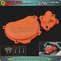 Engine Right Clutch Case Cover Guard Protector & Water Pump Cover Protector for KTM Motocross Motorcycle Dirt Bike