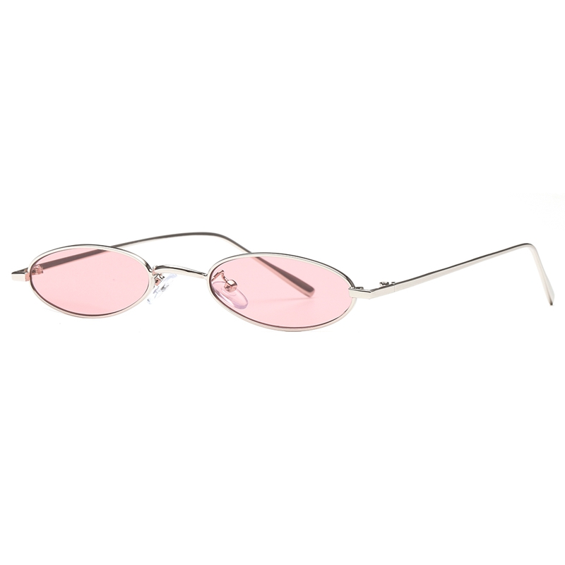 78b74b7485443 AEVOGUE Sunglasses For Women Small Oval Alloy Frame Candy Color Points  Stripe Lens Unisex Girls Cute Sun Glasses UV400 AE0601-in Sunglasses from  Apparel ...