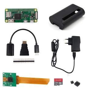 Image 3 - Raspberry Pi Zero W Starter Kit 5MP Camera +RPI Zero W ABS Case+Heat Sink+ 5V2A Power Adapter+16G SD Card+ Adapter Kit Mini HDMI