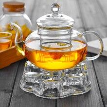 Высококачественный термостойкий стеклянный цветочный чайный горшок, практичная бутылка цветочный чайный стакан стеклянный чайный горшок с заваркой чайный лист травяной кофе