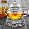 Высококачественный термостойкий стеклянный цветочный чайник  практичная бутылка  стеклянная чаша для чая с заваркой  травяной кофе в виде ...