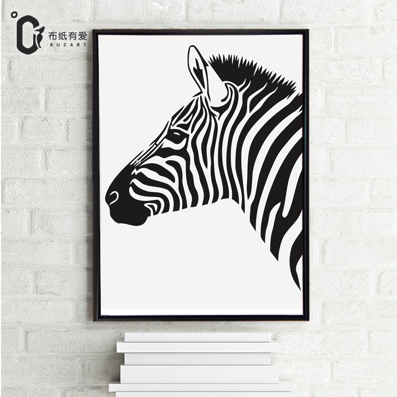 Zebra Modern Black White Minimalist Poster Prints Animal Canvas Paintings For Living Room NO Frame In Painting Calligraphy From Home Garden On