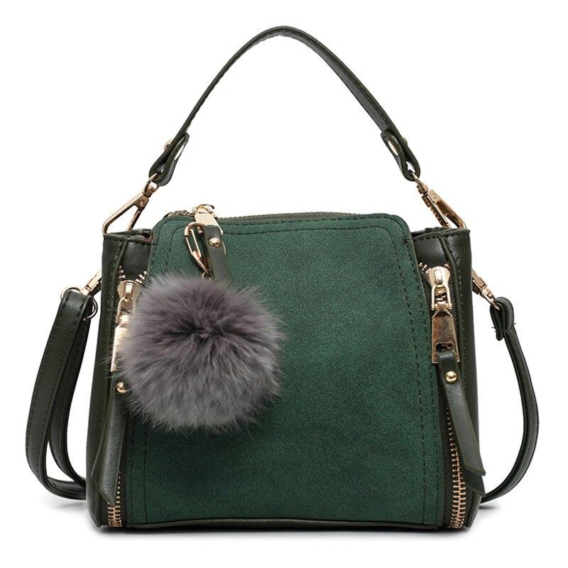Luxus Leder Frauen Tote Bag Weibliche Reißverschluss Handtaschen Mode Neue 2017 frauen Kleine Messenger Bags Damen Solide Wildleder Sac Ein wichtigsten