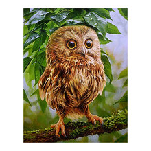 owl animal Moge Diamond Painting Full Round New DIY Toy Sticking Drill Cross Embroidery 5D cartoon simple Home Decoration