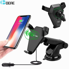 DCAE 2 in 1 Qi Wireless Charger Fast Charging for iPhone X 8 Car Phone Holder