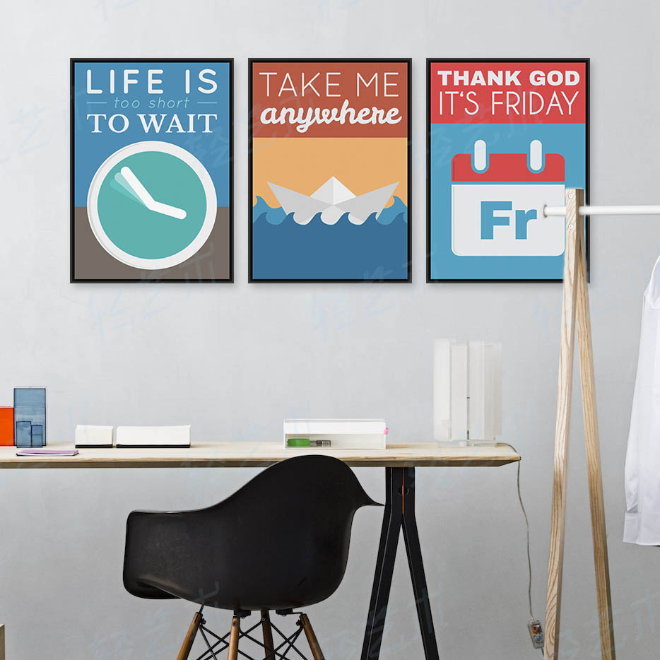 Life Is Too Short Quote Wall Art Poster A4 Print Frameless