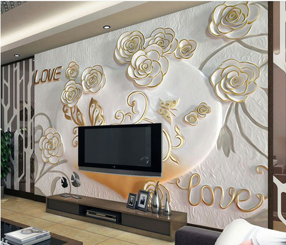 Online buy wholesale 3d wall murals from china 3d wall for 3d wall art wallpaper