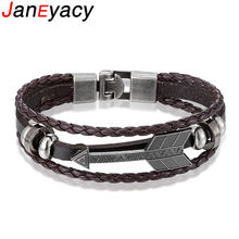 Винтажный Браслет janeyacy с якорем мужские браслеты популярные