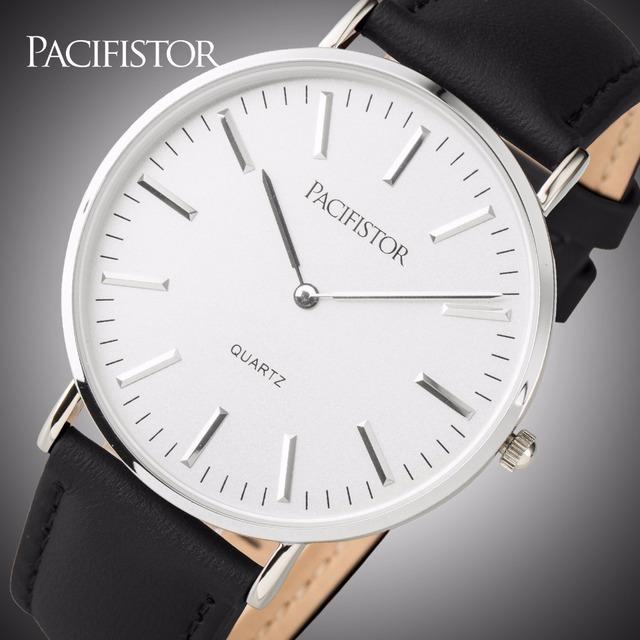 Moda Unissex Relógio PACIFISTOR Heavy Duty Nylon Banda Amantes Relógios de Pulso 30 m Resistente À Água Relógios de Quartzo Relojes Mujer