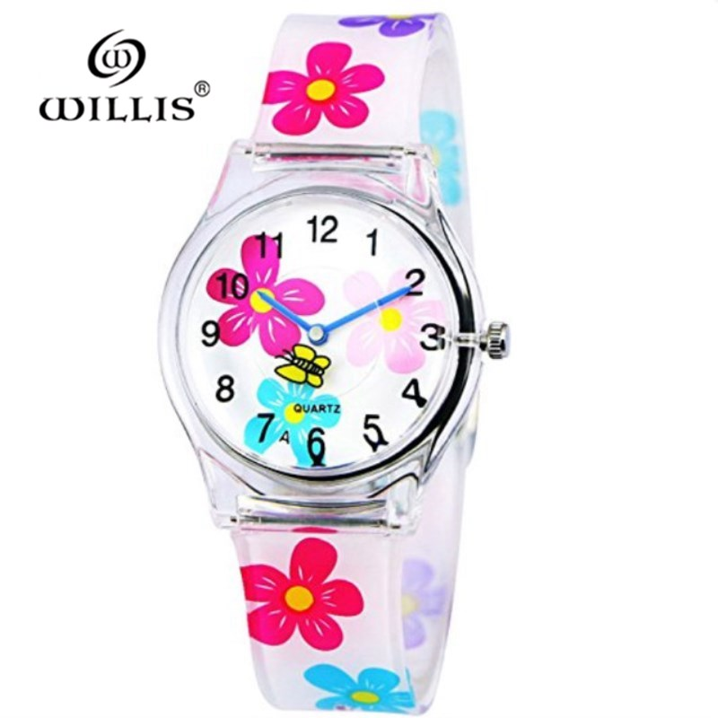 Willis Brand Casual Girl Watches Fashion For Women Mini Water Resistant Sports Silicone Watches Children Cartoon Plastic Watches