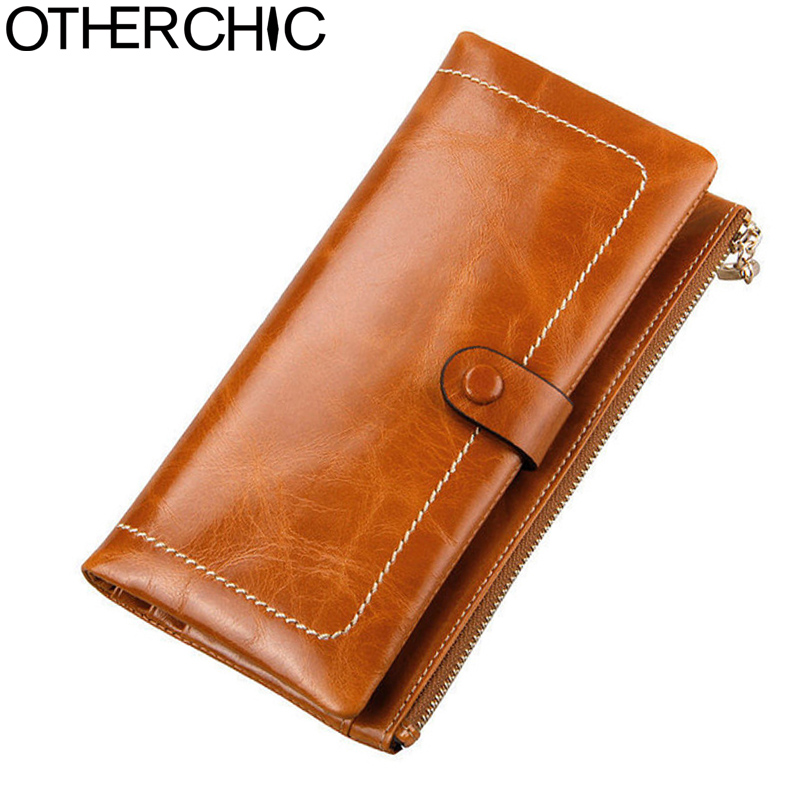 OTHERCHIC Women Leather Wallets Card Holder Ladies Genuine Oil Wax Leather Wallet Women Female Wallets Woman Purse 17Y05-13 just star women s leather wallets ladies