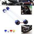For YAMAHA MT 09 MT09 2014-2015 MT-09 Tracer 2015 Front & Rear Axle Fork Crash Sliders Wheel Protector Blue