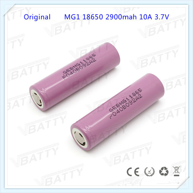 Hot for LG chem New products MG1 2900mah e bike li ion battery 18650 rechargeable lithium battery(1pc)