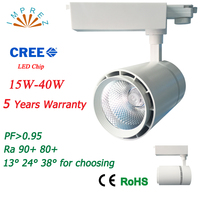 30W Led Track Rail Light With Black White Shell For Kitchen Fixed Clothing Shoes Shops Stores