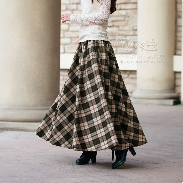 Aliexpress.com : Buy 2016 autumn winter fashion long wool skirt ...