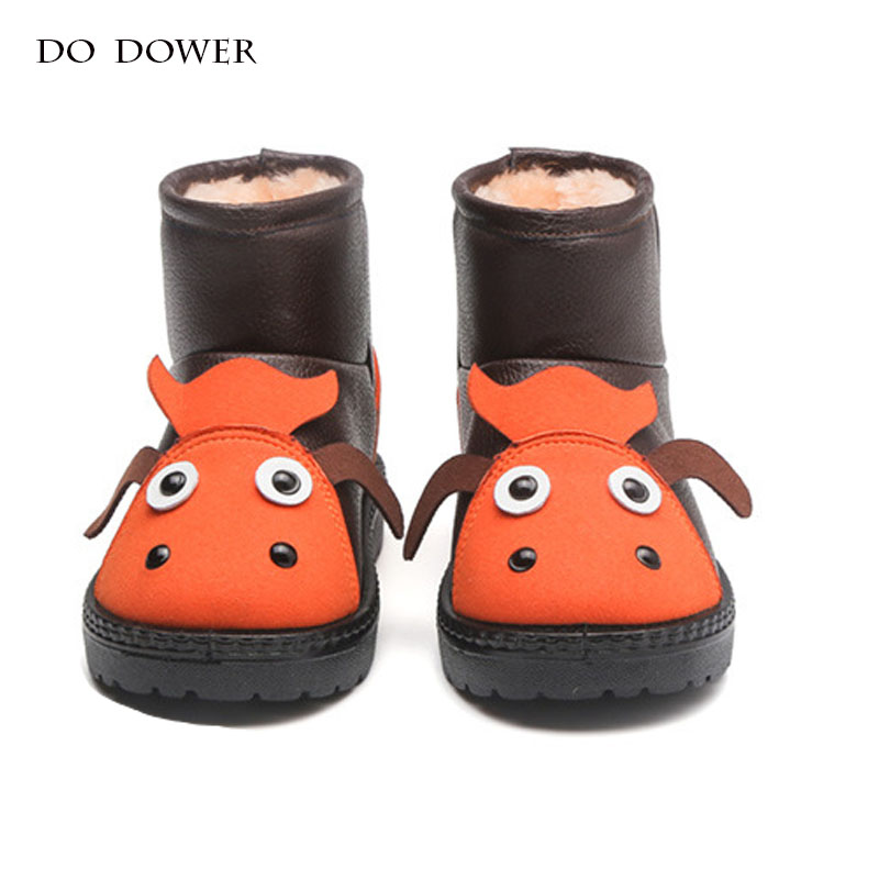 Winter baby shoes Waterproof snow Booties Kid Snow Boots Rubber Girls Boots warm for Children Shoes krasovk cute ankle sneakers