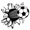 Мода Футбол Наклейка Мультфильм Мальчик круто 3D Спорт Pattern Наклейки 50*50 СМ