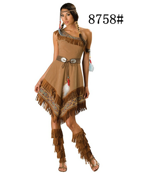Free shipping female new adult sexy fashion women Halloween Cosplay Clothing dress indian hot sell Costume carnival party