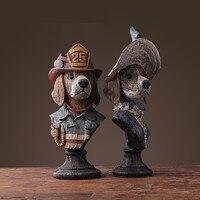 Джентльмен леди фигурки собаки украшения Офис стильной жизни/кабинет Таблица Книги по искусству украшения Изделия из смолы X'max подарок