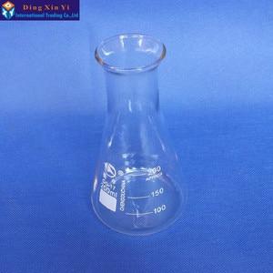 Image 2 - (4 ชิ้น/ล็อต) 200 มิลลิลิตรแก้ว Erlenmeyer กระติกน้ำแก้วรูปกรวย 200 มิลลิลิตรห้องปฏิบัติการใช้แก้วสามเหลี่ยมขวดแก้ว BORO, GG17