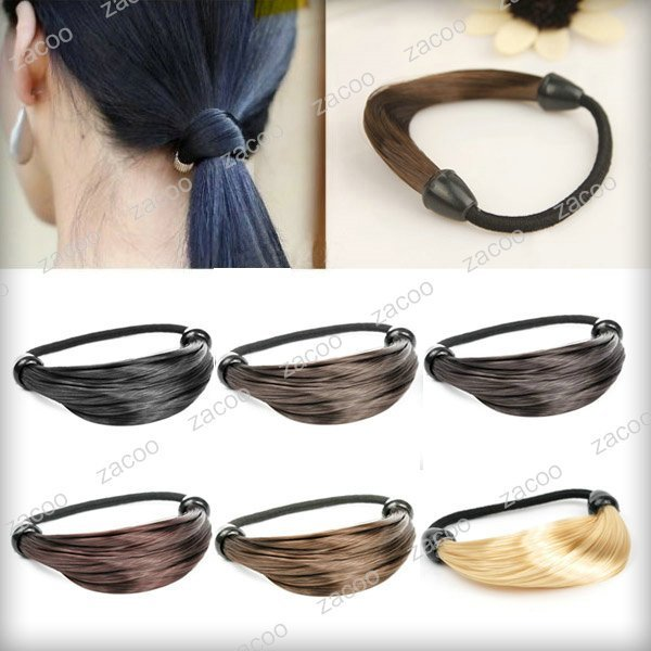 Fashion Hair Rope Extension, Dark Brown, Synthetic Fiber, Sold individually, Free Size , HA0029-2