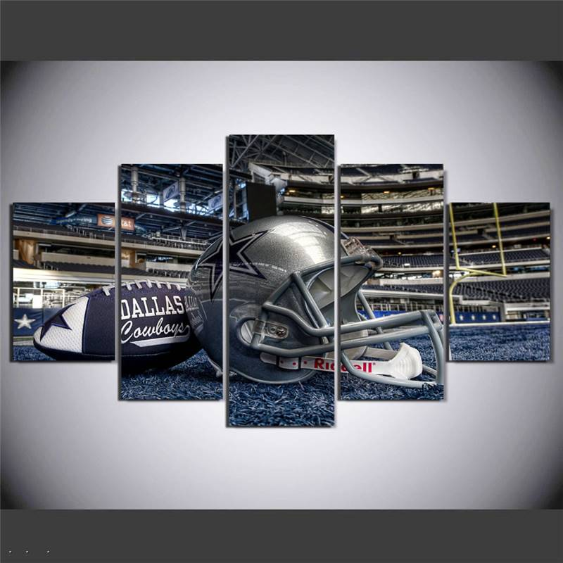 Hd Printed Painting Dallas Cowboys Football Helmet Painting Room Decoration Poster Canvas Free Shipping Framed Art W/91662