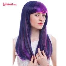 Парик л-электронной Лидер продаж 60 см/23.62 cm Косплэй Искусственные парики Смешанные Цвет Little Pony термостойкие Синтетические волосы Perucas Косплэй парик