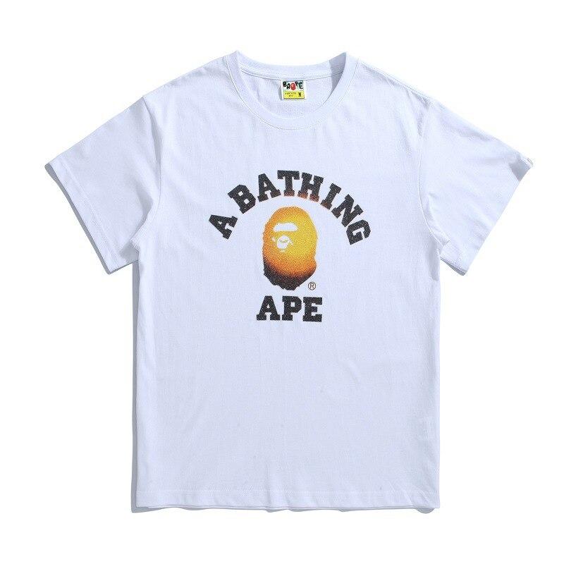 46e4ead12 a bathing ape t-shirt short sleeve frosted glass beads cotton bathing ape