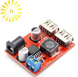 LM2596 LM2596S Dual USB DC-DC 9 V 12 V 24 V 36 V к 5 V 3A шаг понижающий преобразователь автомобиля Зарядное устройство Солнечный источник питания модуль