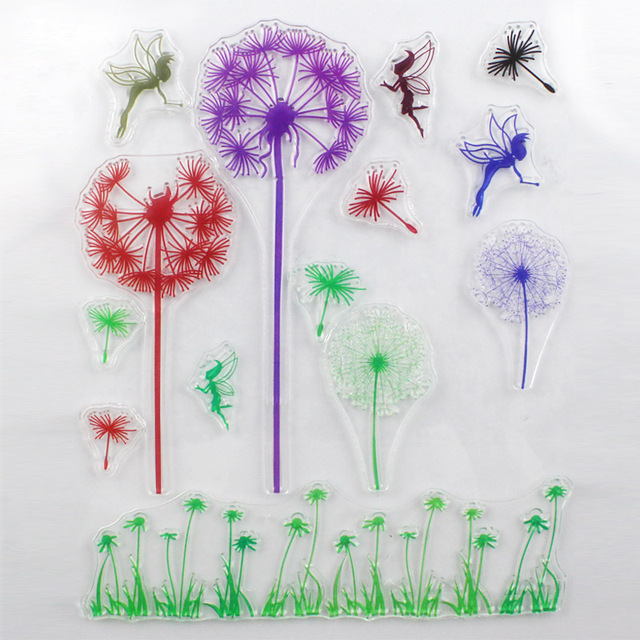 CCINEE Promotions One Sheet Dandelion Love Design Transparent Stamp DIY Scrapbooking/Card Making/Christmas Decoration Supplies
