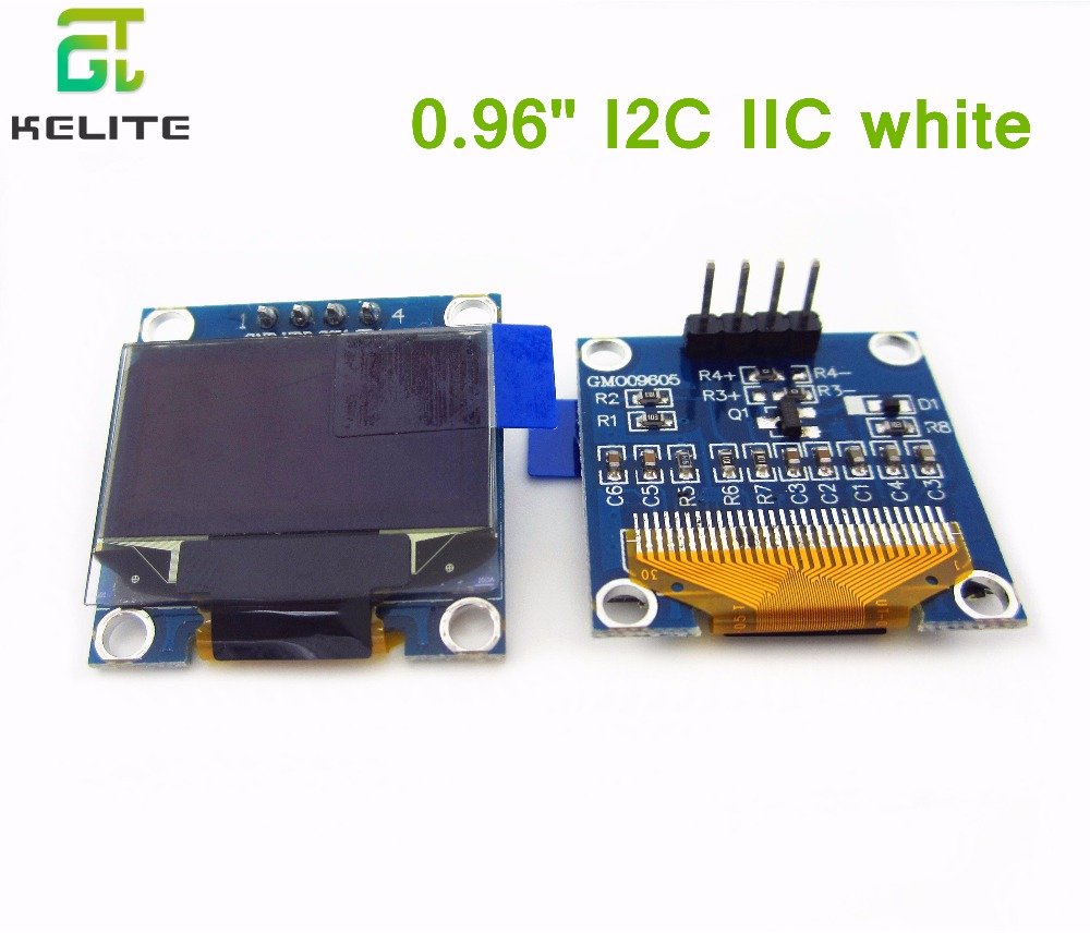 5Pcs 128X64 White OLED LCD LED Display Module 0.96 I2C IIC SPI Serial 0 96 128 x 64 white color oled display module w spi interface for arduino rpi avr arm pic