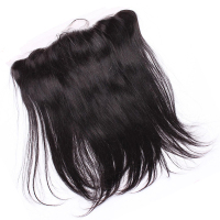 Silk Base 13X4 Ear To Ear Lace Frontal Closure Brazilian Straight Closure Bleached Knots With Baby Hair Remy Comingbuy