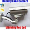 Открытый CCD ИК Ночного Видения Поддельные Камеры Пустышки Decoy Безопасности Мигает Мигает Красный светодиод Инфракрасный СВЕТОДИОД Видеонаблюдения