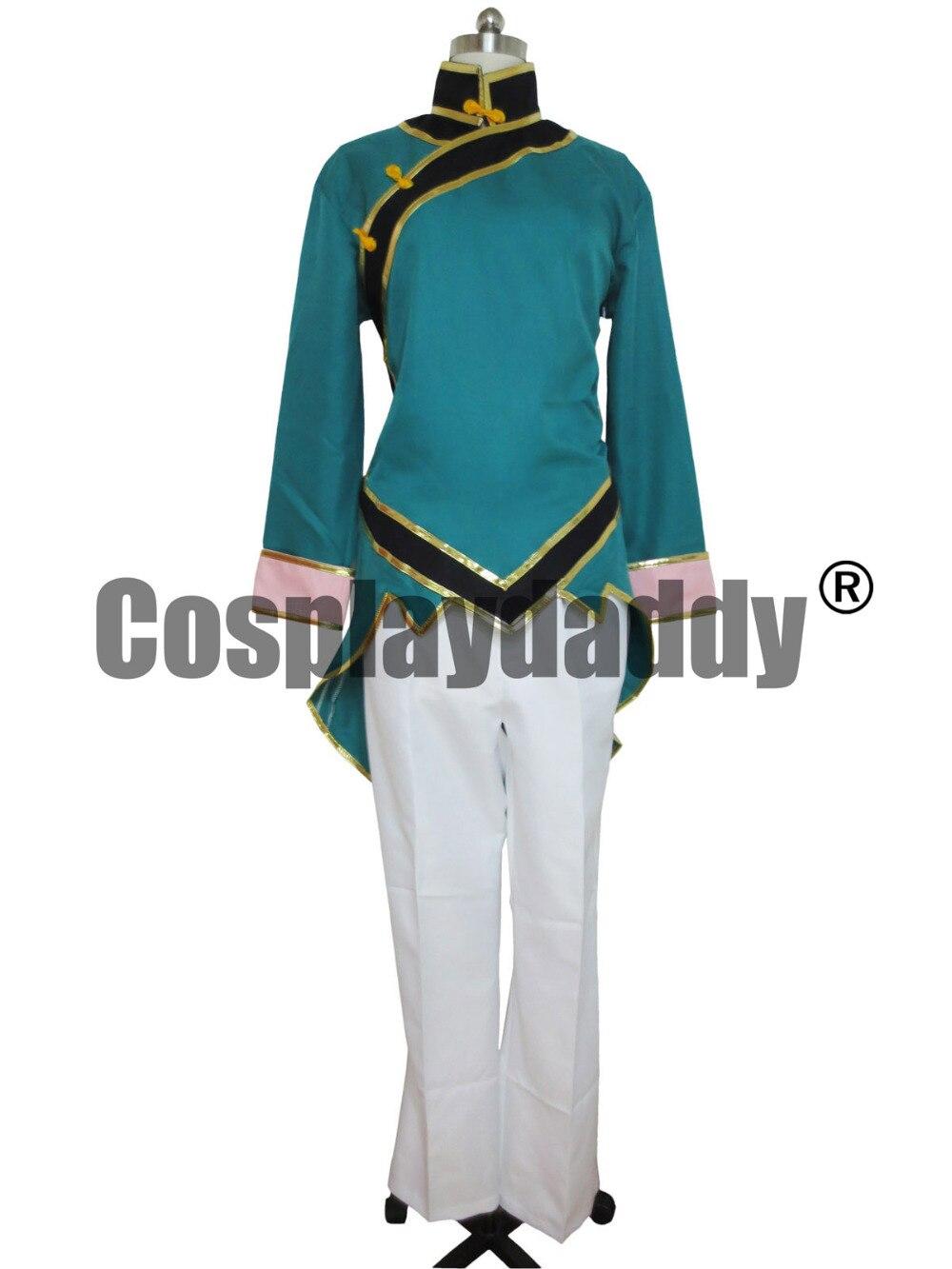 RWBY Beacon Academy Team Lie Ren Green Cosplay Costume Whole Set S002