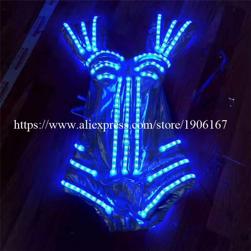 Colorful Led Luminous Sexy Lady DS Party Evening Dress Flashing Light Up Ballroom Costume Dance Wear