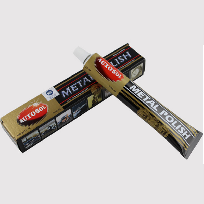 75ml 50g autosol creme faca máquina de polimento cera espelho metal aço inoxidável assistir polimento pasta 100g