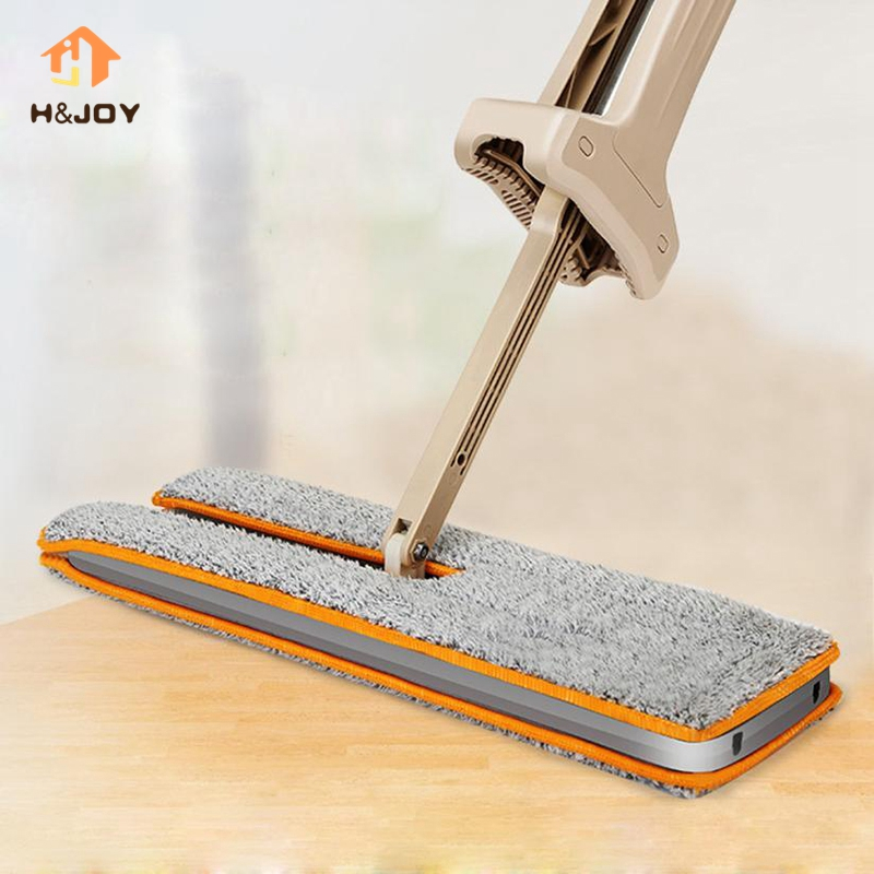 Self-Wringing Double Sided Flat Magic Mop Hand Push Sweepers Hard Floor Cleaner Lazy Vassoura Telescopic Comfortable Clean Tool