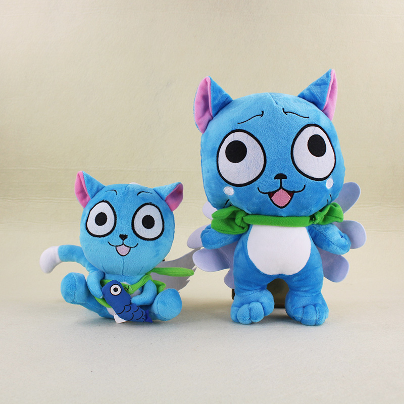 18 29 cm Anime Cartoon Fairy Tail Habib Happy Blue Cat Cute Plush Toy Stuffed Doll