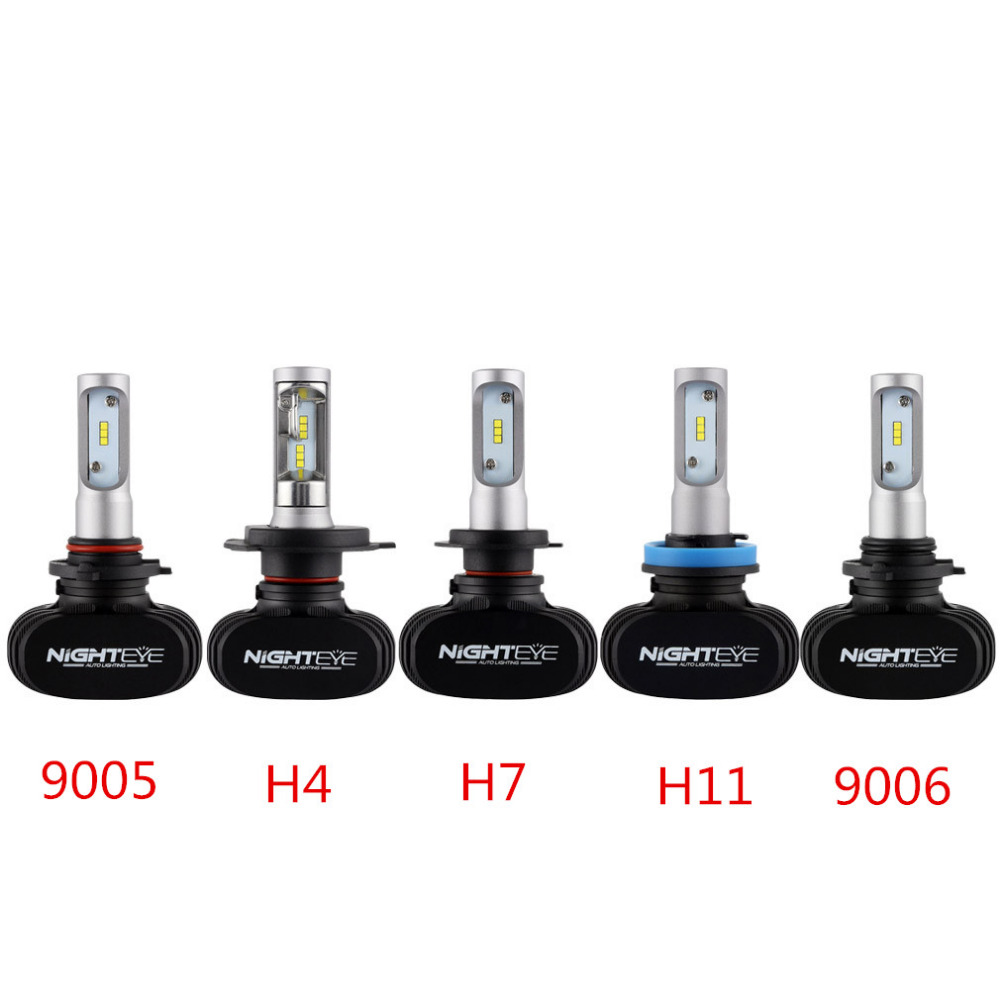 ФОТО 1 Pair LED Chips Light 50W/Set 8000LM 9005/9006/H4/H7/H11 Headlight Kit CSP Beam Bulbs 360 Degree Viewing Angle 6500K White