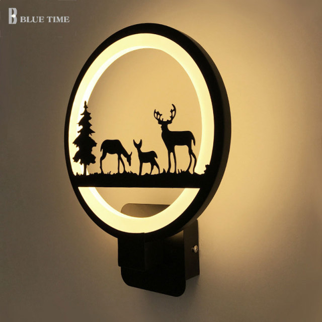 12W Black Acrylic Led Wall Light For Living Room Beside Room Bedroom Luminarias LED Sconce Bathroom Wall Lamp Modern AC85-260V