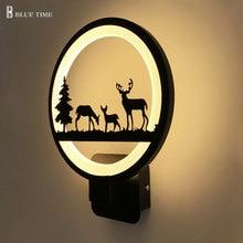 שחור מודרני Led קיר אור עבור המיטה אור שינה Lustres Led פמוט קיר מנורת אמנות דקו קיר Led אור 220V 110V