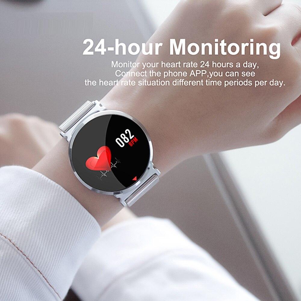 Cor da Tela de Toque do bluetooth Relógio Inteligente Pulseira Sports pulseira das mulheres dos homens crianças hua wei xiao mi bandas para IOS Android e28 - 4