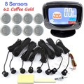 Car Rear View Parking System Kit LCD Display Monitor With 8 Sensors Backup Reverse free shipping 44 colorsfor choice