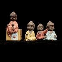Novo Chinês Cerâmica Estátua de Buda Budismo Monge miniaturas India estatueta de cerâmica presente decoração de Casa Por Atacado