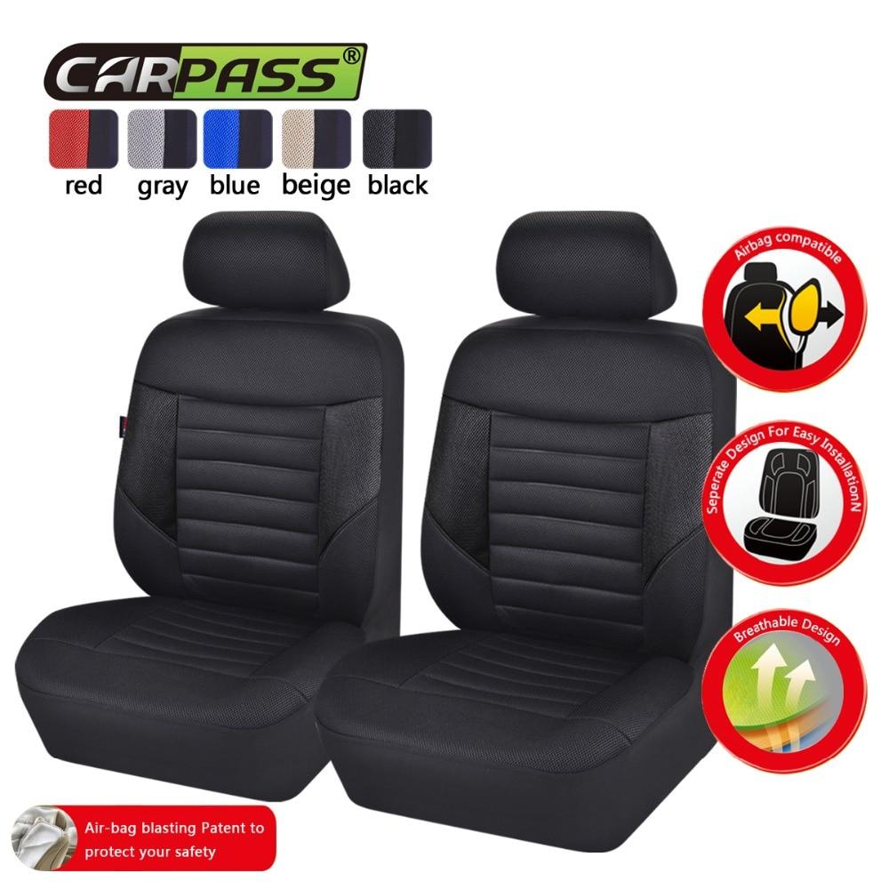Car-pass Автокресло охватывает полный мест 5 цветов универсальный чехлы сетчатая ткань Чехлы для BMW Toyota Mazda nissan hyundai