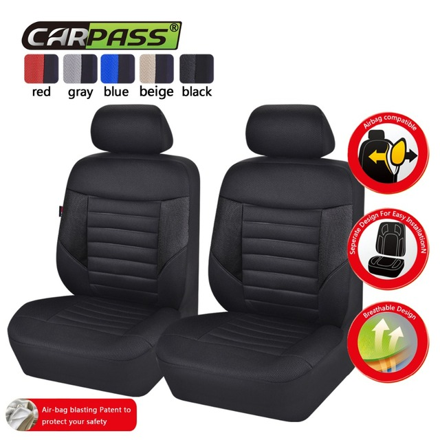Car pass Car Seat Covers Full Seats 5 Colors Universal Seat Covers ...