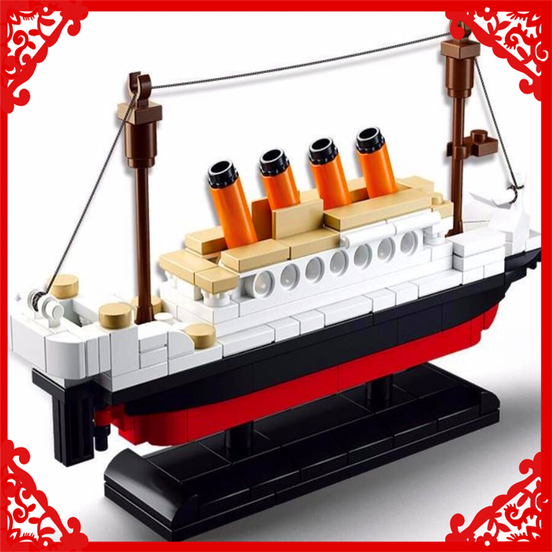 194Pcs RMS Titanic Ship Boat Model Building Block Toys SLUBAN 0576 DIY Educational Figure Gift For Children Compatible Legoe sluban building blocks toy cruise ship rms titanic ship boat model educational gift toy for children compatible legodd 1021pcs